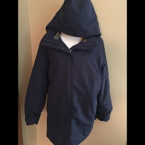 Lands End squall navy winter jacket xlp - 18